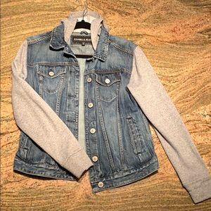 Express jeans denim mixed jacket